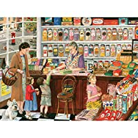 Bits and Pieces–300大きいピースジグソーパズルfor Adults–Sweet Shop–300pc Candy Storeジグソーby Artist Tracy Hall