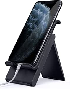 Lomicall 折り畳み式 スマホ スタンド ホルダー 角度調整 可能, スマートフォン 携帯 置き 台 卓上, プラスチック, ポータブル, 携帯電話卓上スタンド : 机 充電スタンド, 充電台, foldable phone stand, コンパクト, 持ち運びやすい, 旅行用 置台, アイフォン 立て デスク 置き台, Nintendo Switch 対応, アイホン, スマフォ, アンドロイド, iPhone 11, 11 Pro Max, 11 Pro Max, 11 プロ マックス, XS XS Max XR X 8 7 7plus 6 6s 6plus 5 5s, huawei p20 p30 lite, Sony Xperia, Nexus, android