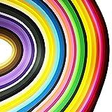 JPSOR 900枚クイリングペーパーセット 幅3mm 9色グラデーション色 手作りペーパークイリング ペーパー・クラフト ハンドメイド DIY ホビー 手芸 造花 画像