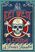 キーWest , Florida – Skull And Crossbones 24 x 36 Giclee Print LANT-45150-24x36