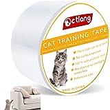 Anti-Scratch Cat Training Tape, H HOME-MART 4 inches Cat Sofa Scratch Guard,Anti Scratching Tape, 100% Transparent Clear Cat
