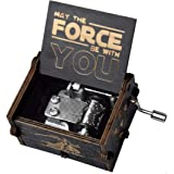 fezlens Wood Music Boxes Star Wars Antique Engraved Wooden Musical Box Gifts for Birthday/Christmas/Valentine's Day/Thanksgiv
