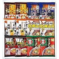 北海道の名店 寒干しラーメン12食詰合MK-30北海道ラーメンセット(白樺山荘みそ・蜂屋しょうゆ・けやき味噌・一文字しお・純連みそ・てつや醤油)