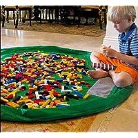 G.G.MAX おもちゃ 収納 マット 一石二鳥 便利グッズ  3D木製模型セット T34-04 (特大サイズ, グリーン)
