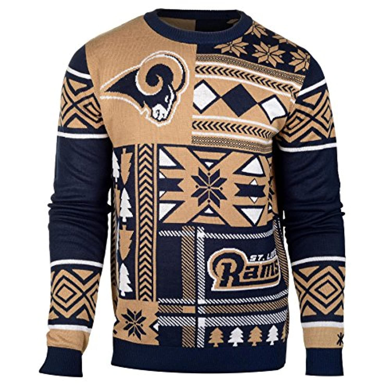 NFL Patches UGLY sweater- Pickチーム M ブルー