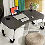 Laptop Bed Tray Table, Astory Portable Laptop Desk Lap Tabletwith Foldable Legs⋓ Slot, Multifunctional Notebook Stand Readin