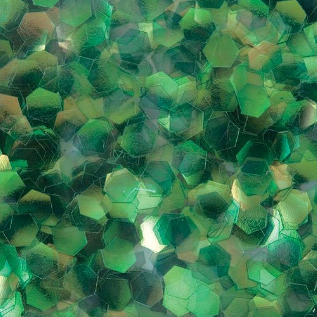 手入れ植生雨のピカエース ネイル用パウダー 六角オーロラG 2.5mm #330 グリーン 0.5g