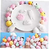 20Pcs Mochi Squishy Toys, Kawaii Squishy Cat Anxiety Relief Toys, Solid Mini Squishies Super Slow Rising Kids Toys, Adults St