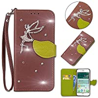 Moonmini for Xiaomi Mi 8 Genuine Leather Wallet Case Cover, Flip Stand, Card Slot, Stylish, Brown