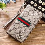 iPhone X Case, iPhone Xケース, 手帳型ケース スマホケース・カバー レザー 革 携帯カバー脱着簡単 保護カバー ( Color : Brown )