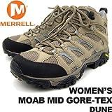 メレル レディース モアブミッドゴアテックス デューン MERRELL WOMEN'S MOAB MID GORE-TEX DUNE J87318 女性用 トレッキングシューズ 登山用