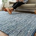 洗える 平織り デニムラグ ラグマット 「 デニム 」 約 190x240 cm ブルー 約 3畳 強 ホットカーペット対応
