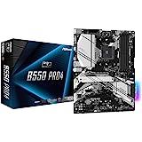 Asrock B550 PRO4 Motherboard, Supports 3rd Gen AMD4 Ryzen, PCIe 4.6