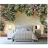 山笑の美 ピンクの花の写真の壁紙の壁画のステッカーの居間の寝室3Dの家の装飾の自己接着ビニール/絹の壁紙-310X200CM