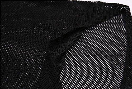 nandin メッシュ Tシャツ トップス ヨガ ダンス レディース S 黒