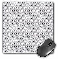 3drose LLC 8x 8x 0.25インチマウスパッド、クリアダイヤモンドラインストーンGem Print ( MP _ 24649_ 1)
