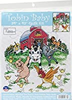 Tobin T21777 Barnyard Quilt Stamped Cross Stitch Kit-34X43 [並行輸入品]