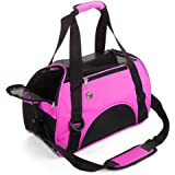 MisteSun Cat Carrier,Soft-Sided Pet Travel Carrier for Small Cats,Dogs Puppy Comfort Portable Foldable Pet Bag Airline Approv