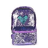 レディース スパンコール バックパック ガールズ 双肩 ファッション キラキラ光る リュックサック 4色 (紫色) veqking
