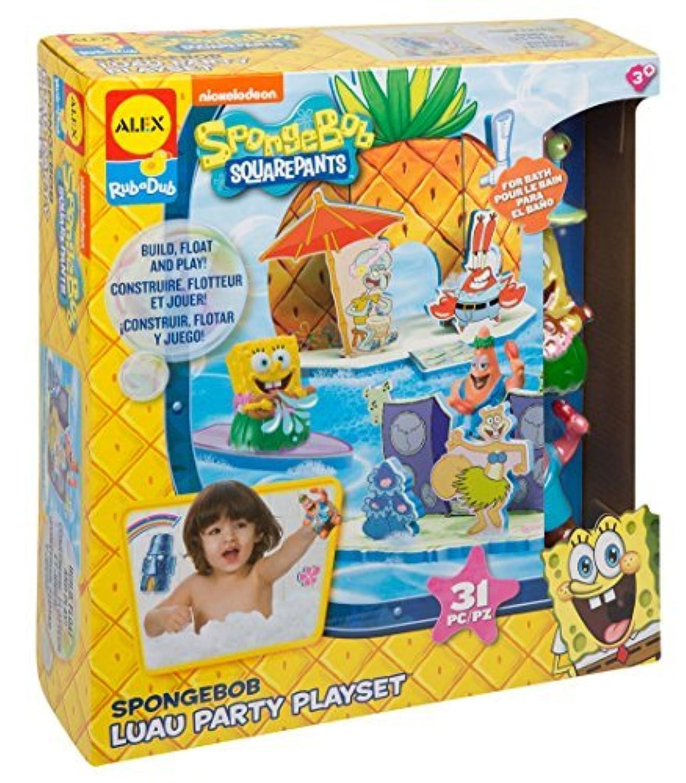 SpongeBob Luau Party Play Set Bath Toy [並行輸入品]