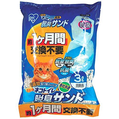 アイリスオーヤマ 1週間取り替えいらずネコトイレ専用 脱臭サンド 3L TIA-3L