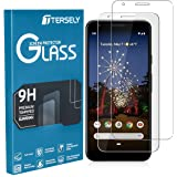 TERSELY Screen Protector for Google Pixel 3A, [2 Pack] Premium Accurate Tempered Glass 9H Hardness Film Anti-Scratch Screen P