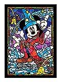 266ピース ジグソーパズル ディズニー ミッキーマウス ステンドグラス ぎゅっとシリーズ 【ステンドアート】(18.2x25.7cm)