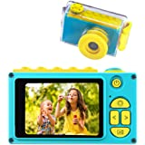 BlueFire Kids Digital Camera Mini 2 Inch Screen Children's Camera 8MP HD Digital Camera with Waterproof Case & 256M SD Card,