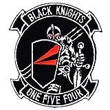 ミリタリーワッペン 米海軍航空部隊VF-154 BLACK KNIGHTS Y2K