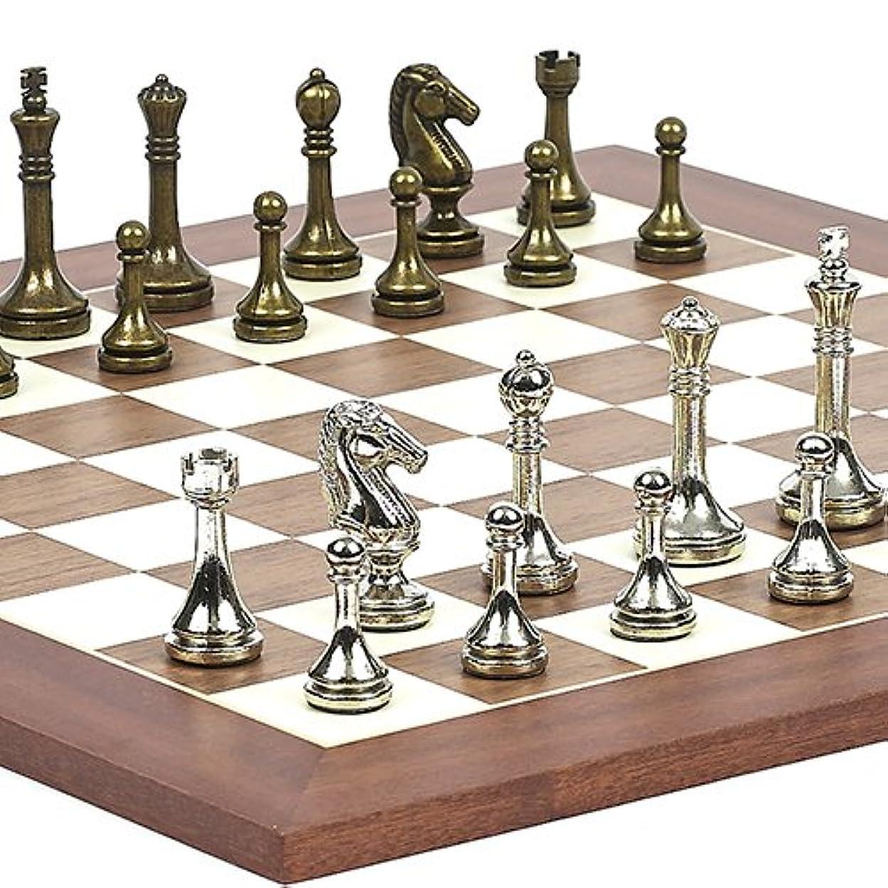 発表ありそう一般的なAstor Row StauntonメタルChessmen & Stuyvesant Streetチェスボードfrom Spain