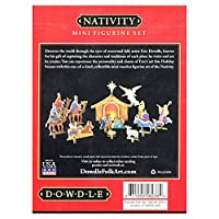 Dowdle FolkArt NATIVITY - 3-D Standing Stratascape Diorama Set - Small