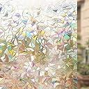 Rabbitgoo 窓用フィルム 目隠しシート 断熱/紫外線カット 無接着剤 再利用可能 (遠花火 44.5 x 200cm)