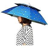 レジャーハット かぶる傘 折りたたみ傘帽子 スポーツ 観戦キャンプ 両手が自由 釣りの際の日差しカット 屋外作業 つり用傘 屋外イベント すげ笠 釣り帽子 釣傘