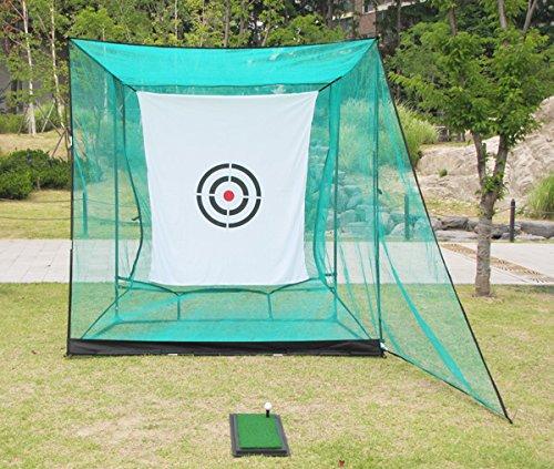 EKGOLFGREEN(イーケーゴルフグリーン) 簡単組み立てゴルフ練習ネット基本セット(幅2.4m×高2.4m×奥行1.5m)超コンパクトながらショートゲーム練習用にぴったり!・鳥かごゴルフネットゴルフ練習用品;自宅にゴルフ練習場をつくろう!