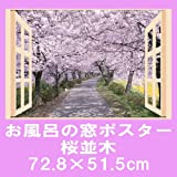 お風呂のポスター 桜並木