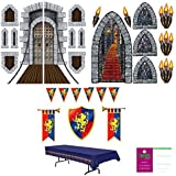 Medieval Knight Deluxe Decoration Kit - Window Door Torch Banner Decor Props [並行輸入品]