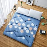 Futon Mattress, Japanese Tatami Floor Mat Sleeping Bed Foldable Futon Mattress Topper Comfort Portable Folding Single Double