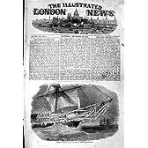 1854 の天候のバルト海の氷は H.m コルベットの巡洋艦の船を曲げます