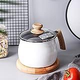 PENIOR スープ鍋 シチュー鍋 ミルクパン 片手鍋 煮る 揚げる 炊く ガス火/IH対応 蓋とハンドル付き14cm 2.4L