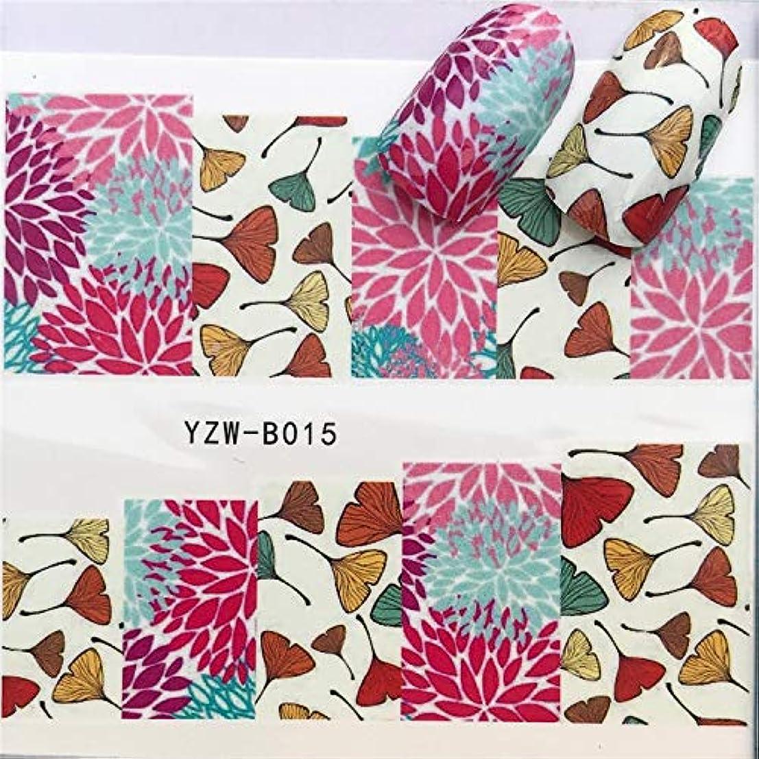 ビューティー&パーソナルケア 3ピースネイルステッカーセットデカール水転写スライダーネイルアートデコレーション、色:YZWB016 ステッカー&デカール