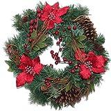 クリスマスリース ポイン&コーン W45