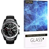 BECROWM for Ticwatch Pro Tempered Glass Screen Protector Smartwatch Screen Protector 9H Hardness Full Coverage Screen Protect