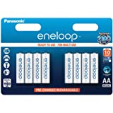 Panasonic Eneloop AA 1900mAh Eneloop NiMH Ready to Use Rechargeable Battery BK-3MCCE (8 Classic Batteries)