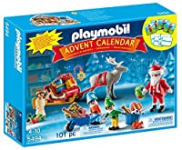 PLAYMOBIL Santa's Workshop Advent Calendar (Discontinued by manufacturer) [Floral] [並行輸入品]