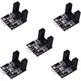 HiLetgo 5pcs LM393相関光電センサー対向型赤外線カウントセンサー