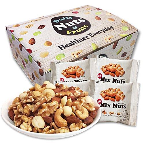 小分け4種 ミックスナッツ 1.05kg (35gx30袋) 箱入り 9月産地直輸入 無塩 無添加 食物油不使用 (生くるみ30% アーモンド35% カシューナッツ15% 生マカダミア20%)
