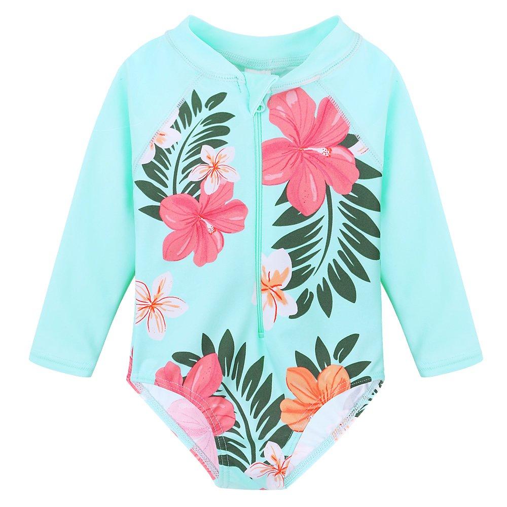 93ad4f857342c BAOHULU可愛い 女の子水着 ピンク 花柄つき 日焼け止め ストライプ ファッション キュート ワンピース水着 スイミングウェア
