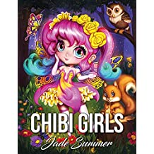 Chibi Girls: An Adult Coloring Book with Adorable Anime Characters, Fun Manga Animals, and Delightful Fantasy Scenes for Relaxation