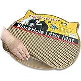 ブラックホール 二重構造 猫の砂取りマット 57cm x 53cm ベージュ - 猫のトイレマット (Beige(ベージュ))