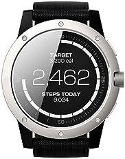 MATRIX POWER WATCH マトリックス 充電不要 スマートウォッチ 体温で発電 睡眠 活動量計 ストップウォッチ パワーウォッチ シルバー ブラック【日本正規代理店商品】 (Power Watch Silver)